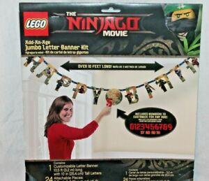 NEW LEGO THE NINJAGO MOVIE JUMBO LETTER KIT  BANNER PARTY SUPPLIES 10  FEET