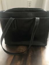 Coach briefcase bag with handles- dark brown many pockets