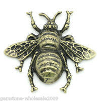 Wholesale 5 Lots Craft Embellishments Findings  Bee Bronze Tone 4x3.7cm