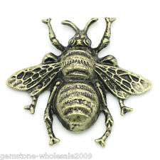 Wholesale 5 Lots Craft Embellishments Findings Cabochon Bee Bronze Tone 4x3.7cm