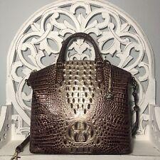 Brahmin Large Duxbury Satchel Port Ombre Melbourne Leather