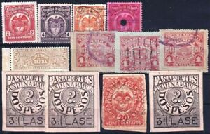 F-EX18017 COLOMBIA REVENUE STAMPS LOT.