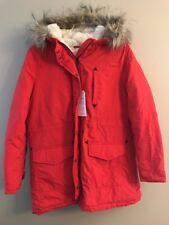 NWT AMERICAN EAGLE Misses Parka Jacket LARGE Hood Red #167229