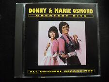DONNY &  MARIE  OSMOND  -   GREATEST HITS   ,  CD  1993 / 1977 ,   POP, ROCK ,