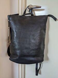 BNWT ELK Black Leather Convertible Backpack