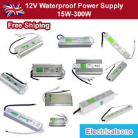 15W-300W IP67 Waterproof LED Transformer Driver Power Supply for Strip DC12V UK