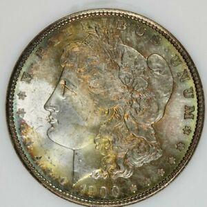 1900-P 1900 Morgan Dollar NGC MS65 Old No Line Fatty Holder Beautifully toned