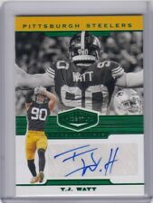 T.J. WATT 2019 PANINI PLATES & PATCHES GREEN AUTOGRAPH 3/20 AUTO STEELERS