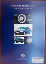 Prospekt original BMW ALPINA Teile 5er E39 03/97 Preisliste 03/97