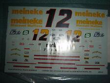 #12 Jimmy Spencer Meineke Muffler Ford Water Slide Decal Sheet 1/24 Slixx