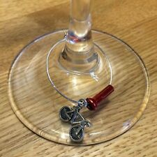 Small Bike Spoke Nipple Wine Glass Bicycle Charms
