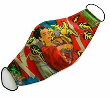 Frida Kahlo Print 100% Cotton Fabric Face Mask Washable Made In SF