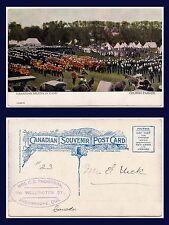 CANADA CANADIAN MILITIA IN CAMP AT CHURCH PARADE DIVIDED BACK CIRCA 1907