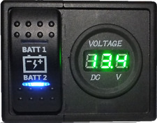 Dual Battery voltmeter with Dual Battery ARB Narva Rocker Switch