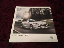 Peugeot RCZ Brochure Jan 2013