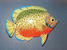 "6"" TROPICAL FISH Home Decor Wall Sculpture Plaque Sea Life Replica"