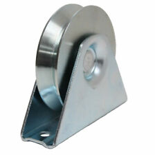 80mm V Groove Gate Wheel Pulley Wheel in Bracket Guide Wheel Steel Wheels
