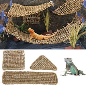 Reptile Platform Hammock Lizard Lounger Hammocks Geckos Hanging Net Tank Decors.