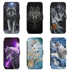 Beautiful Wolf Moon Dreamcatcher WALLET FLIP PHONE CASE COVER FOR IPHONE MODELS
