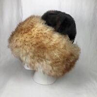Genuine Sheepskin and Faux Fur Hat Womens Russian Cossack Winter Wear