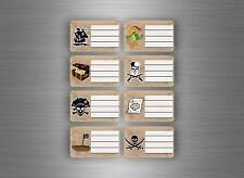 16 etichetta adesivi adesivo notebook scuola libro nome scolastica pirata pirati