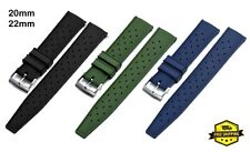 Tropic Waffle Rubber Watch Strap Band 20mm 22mm SKX007 Submariner Diver Watch