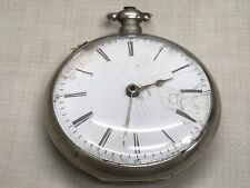 Antique Chinese Market Duplex Pocket Watch 20s .900 Silver FOR PARTS OR REPAIR