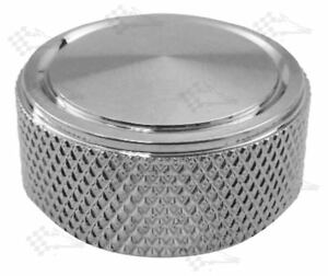 """Chrome Knurled Air Cleaner / Air Filter Nut - 1/4""""-20"""