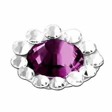 Purple Diamond Home Button Sticker for Apple iPhone / iPad / iPod touch P3G4