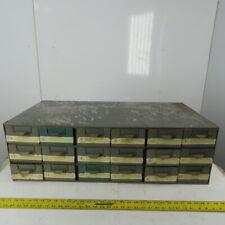"18 Drawer Small Parts Organizer Storage Steel Cabinet 34-1/4""W x 17""Dx 10-3/4"" T"