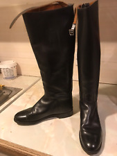 Hawkins Black Leather Riding Boots, Size 6 D