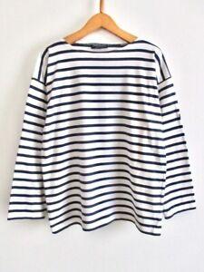 EUC Saint James Girls Youth Breton Striped Shirt Top France Made 16 yrs Womens