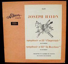 Haydn Symphonies 53 & 63 Helmut Muller-Bruhl Charlin stéréo CL 33 LP NM -, CV EX