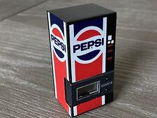Alcraft Pepsi Co Vending Machine Solid Metal Paperweight Quartz Clock 1980s