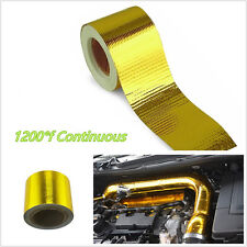 "2""x33' Autos 1200°f Continuous Gold High Temperature Heat Shield Wrap Tape Roll"