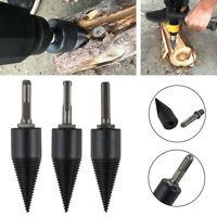 32/42mm Twist Kindling Firewood Splitter Drill Bit Split Wood Cone Punch Tool