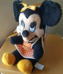Vintage Minnie Mouse Plush GIFT 60s Walt Disney Production Apron Bow Polka Dot