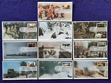 US 1994 FDC #2838a-t WWII SET OF 10 MYSTIC FIRST DAY COVERS WORLD WAR TWO