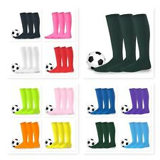 Teehee Acrylic Unisex Soccer Football Sports Team Cushion Socks 3 Pair Pack