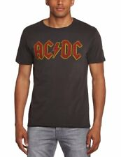 Officiel pour Hommes Charbon Ac/dc T-shirt Logo de Amplified XL