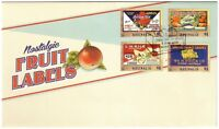 "2016 FDC. Australia. Nostalgic Fruit Labels. Fruit Crate PictFDI ""CYGNET"""