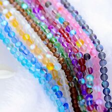 Top Crystal Glass Round Matte Frosted Inside AB Beads 6mm 8mm 10mm 12mm 15.5