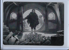 THE HOBBIT BATTLE OF THE FIVE ARMIES BLACK PRINTING PLATE BILBO HOME AT LAST 1/1