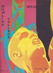 1972-73 Dowling Golden Lions Basketball Program AD/HC Richard Berg