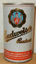 BUDWEISER BUDVAR Straight Steel Beer can from TZECHOSLOVAKIA (35cl)