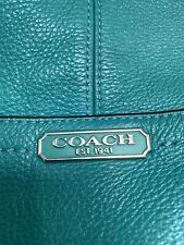 Teal Turquoise COACH handbag purse crossbody medium perfect condition