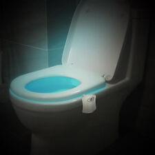 Toilet LED Human Motion Sensor WC Lamp Activated PIR Automatic RGB Night Light