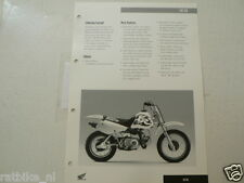 H375 HONDA  BROCHURE XR70R 1997 ENGLISH 2 PAGES MINIBIKE