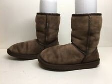 #3A WOMEN UGG AUSTRALIA WINTER DARK BROWN BOOTS SIZE 8