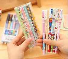 6 color o tinta Negra Flores Hello Kitty nebulosa Fine 0.38mm Gel Pen Set Reino Unido